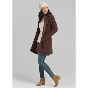 Prana Brown Duster Elsin Sweater Coat S